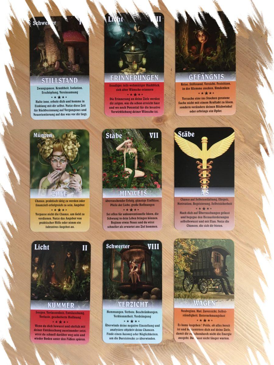 verschiedene legesysteme zigeunerkarten